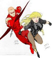 Red Arrow and Black Canary by ArsonisticIntentions