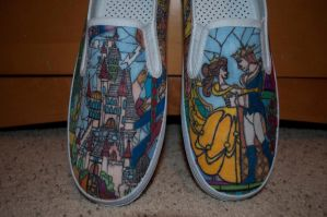 Beauty on the Beast shoes, fronts by Sarihuma