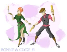 Bonnie and Clyde by CheungKinMen