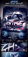 High Pulse PSD Flyer Template by yAniv-k