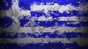 Greek Flag Wallpaper by GaryckArntzen