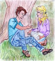 Percabeth talking by Paulajackson
