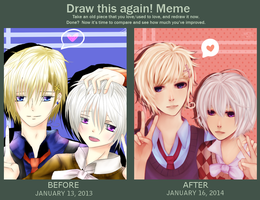 Draw this rubbish again: 1 year Improvement by Akeita