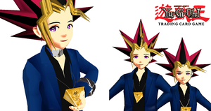 MMD- Newcomers Yugi + Yami by MMDFakewings18