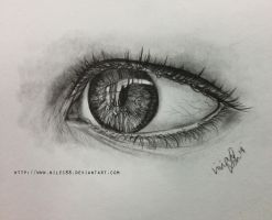 Realism eye sketch by nilec88