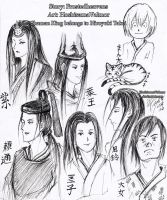 Through the Ages - character sketches by HoshisamaValmor