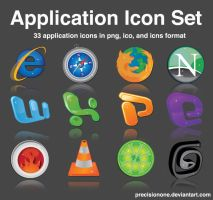 Application Icon Set by precisionone