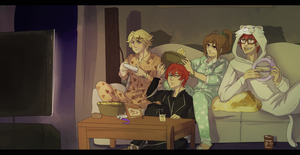 A pj party with a couple of nerds by STTMARTS