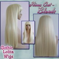 Hime Cut - Blonde by GothicLolitaWigs