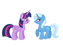 It's not like Trixie likes you or anything, baka! by Rad-Girl