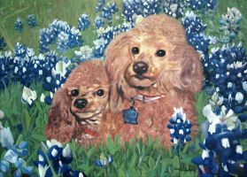 Poodles Painting by annableker