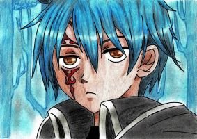 Gerard (Jellal)-Siegrain (Fairy Tail) Coloration by Animizuu