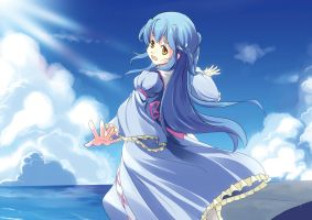 ACen Prints For Sale(1.1): Shiori with the Sea by AmberClover