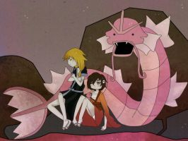 PE: Gyarados is pink... Damn by Youarenotthere