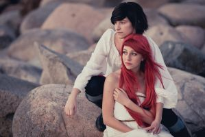 Aybike and Sille - The Little Mermaid IV by afflaf