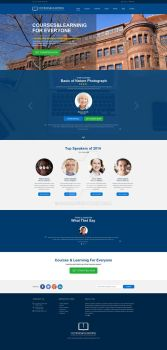 Courses and Learning PSD Template by 90Box