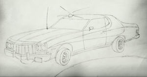 ford gran torino drawing by EnriqueGomez