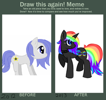Before and after meme by GliitchingTengu