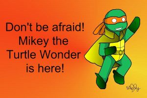 TMNT Mikey Banner by wachey