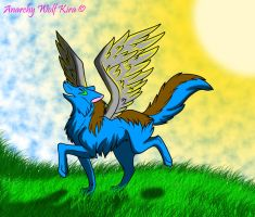 Wolves can fly too by AnarchyWolfKira