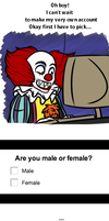 Why Pennywise doesn't have social networks by Bakhtak