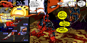 Deathstroke vs Deadpool 1 D by Scintillant-H