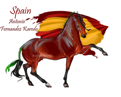 Horse Hetalia: Spain by Moon-illusion