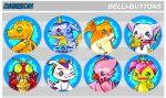 Digimon Buttons by jinyjin