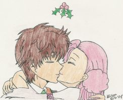 Christmas Kiss by InuKid