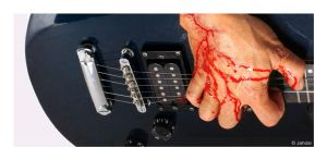 Bloody Guitar by Jahdai