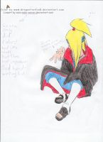 Deidara thinking..._COLLAB v2 by Anko-sensei