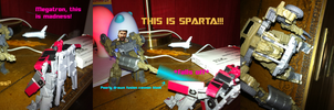 Sentinel Pwnage: Sparta by KillMarioLoveBowser
