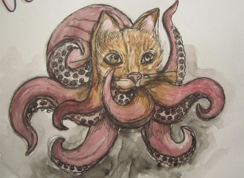 Octopussy Sketch by FlamingChickCreation