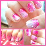 Valentine's Day Ombre Nails by peachfan7