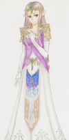 Princess Zelda- Twilight Princess-Color by ChaosSoda