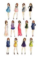 Dress styles fashion illustration by LouSasa
