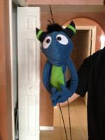 Lance the dragon-parrot-thing puppet by Immarumwhore