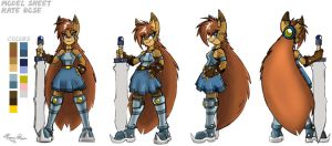 Model Sheet - Kate Rose Color by Duaxer