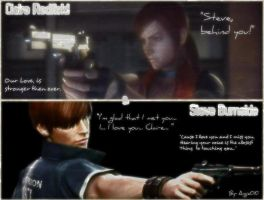 Claire Redfiled and Steve Burnside:Wallpaper by Angie010