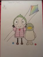 Mother-Daughter sketchbook project: Sarah and Duck by stitchycupcake