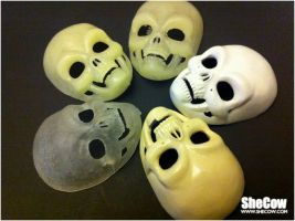Skull masks for BJD by SheCow