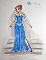 Hermione at the Yule Ball by Lulu-Lomaki