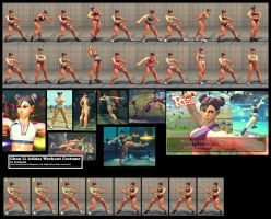 Chun Li Adidas Workout Costume by brinkmk