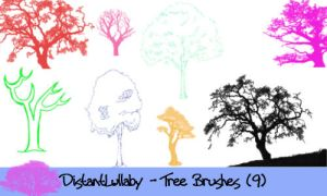 Adobe Photoshop Tree Brushes by DistantLullaby
