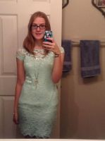 My new mint green dress by MintyMagic74