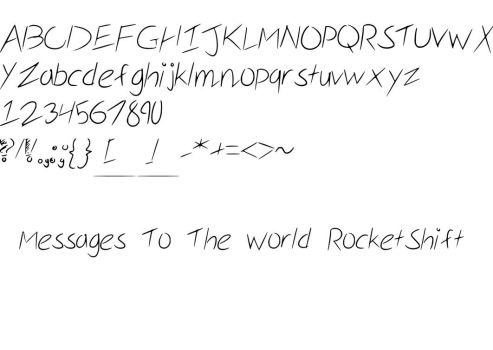 MessagesToTheWorld RocketShift (Font). by greenkyky
