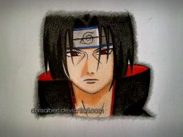 Uchiha Itachi (colored drawing) by chrisalbert