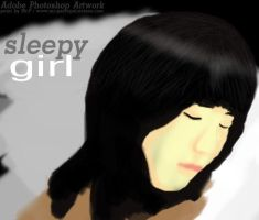 Sleepy-Girl by Peerapat-Sema