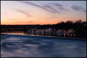 Boathouse Row At Sunset by ryangallagherart