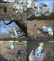 Posable Needle Felted Shattered Glass Ravage by SnowFox102